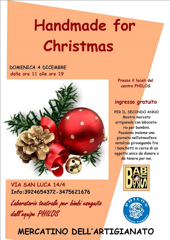 Handmade for Christmas – 4 Dicembre 2016