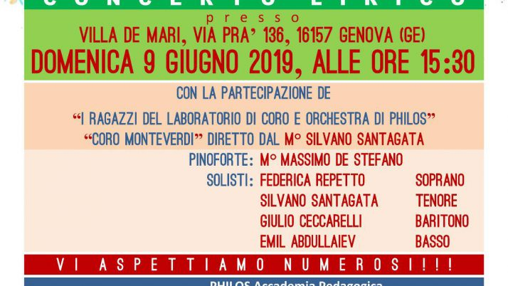 Music for Philos – 9 giugno 2019